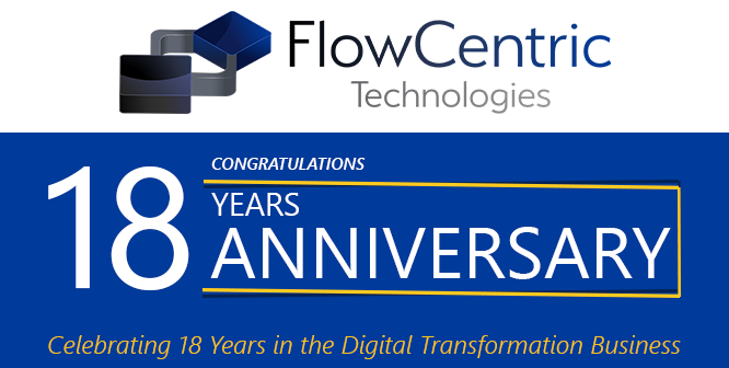Celebrating 18 Years in the Digital Transformation Business