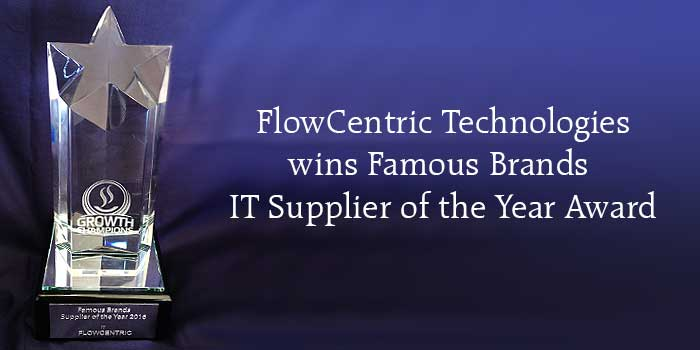 Famous Brands IT Supplier of the Year 2016 Award